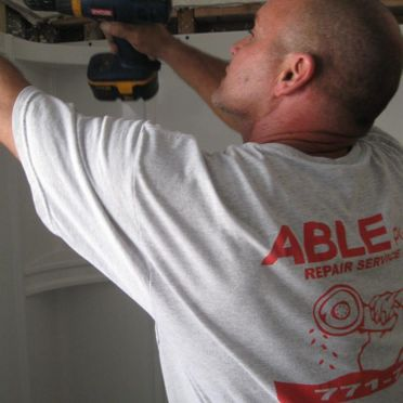 A staff member completing work for Able Plumbing Repair Service, Inc. in Orange Park, FL