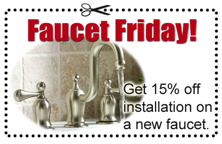 A coupon for faucet installation through Able Plumbing Repair Service, Inc. in Orange Park, FL