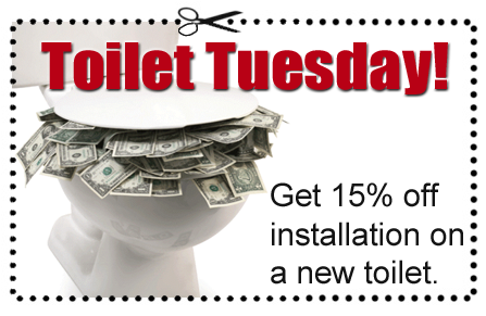 A coupon for toilet installation through Able Plumbing Repair Service, Inc. in Orange Park, FL